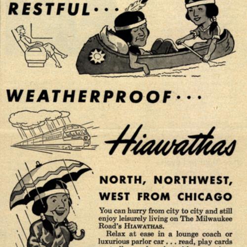 Fast...Restful...Weatherproof...Hiawathas