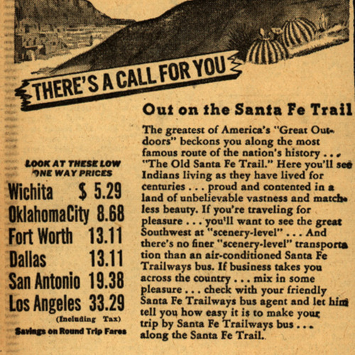 There's A Call For You Out on the Santa Fe Trail