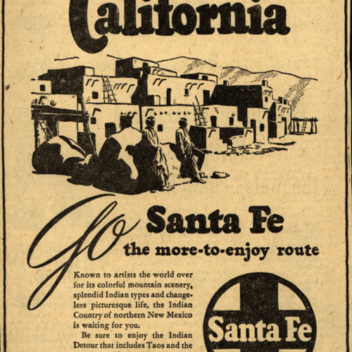 See the Indian Country on your trip to California. Go Santa Fe the more-to enjoy...